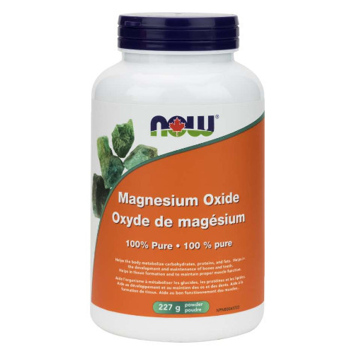 NOW Magnesium Oxide Powder 227 grams Canada