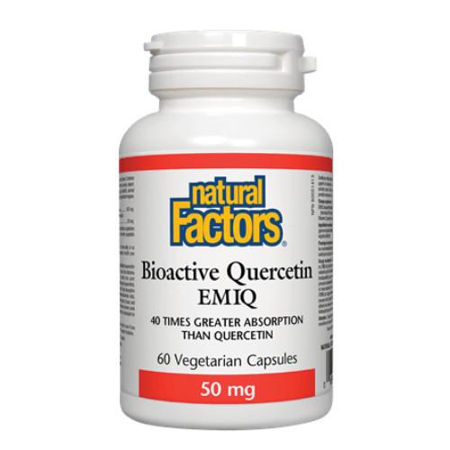 Natural Factors Bioactive Quercetin EMIQ 50 mg 60 veg capsules