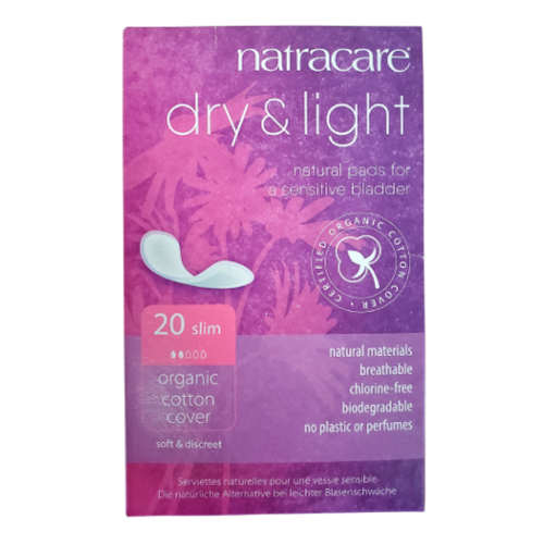 Natracare - Slim Fit Dry & Light Organic Cotton Cover Natural Pads for a Sensitive Bladder