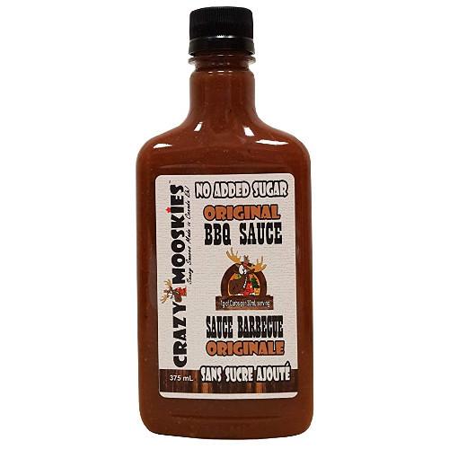 Crazy Mooskies Original BBQ Sauce No Added Sugar 375 ml