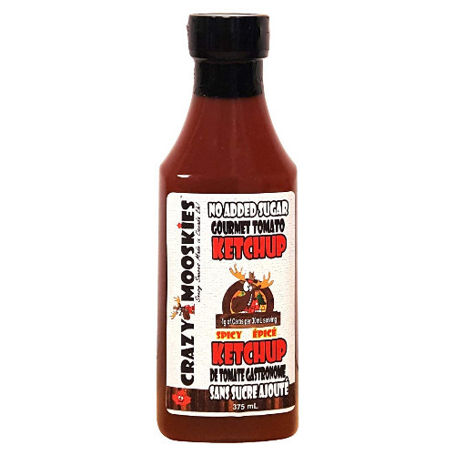 Crazy Mooskies No Added Sugar Gourmet Tomato Ketchup Spicy 350 ml