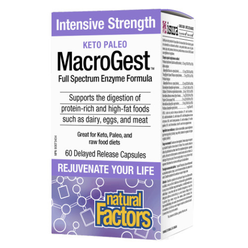 Natural Factors Keto Paleo Macrogest Intensive Strength Canada protein-rich high-fat foods