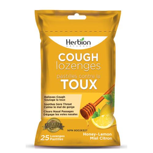 Herbion Naturals Cough Lozenges Honey-Lemon Pouch Canada cough suppressant herbal formula