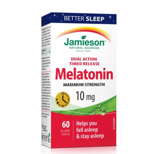 Jamieson Melatonin 10 mg Canada sleep shift work