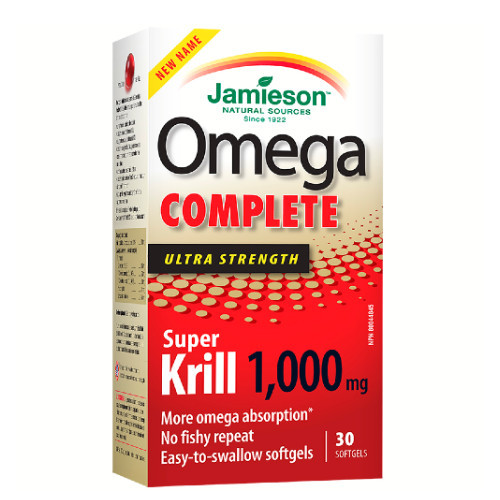 Jamieson Omega Complete Ultra Strength Pure Krill Oil 30 softgels heart health