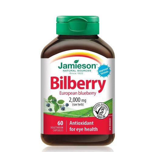 Jamieson Bilberry European Blueberry eye health macular degeneration 60 caps