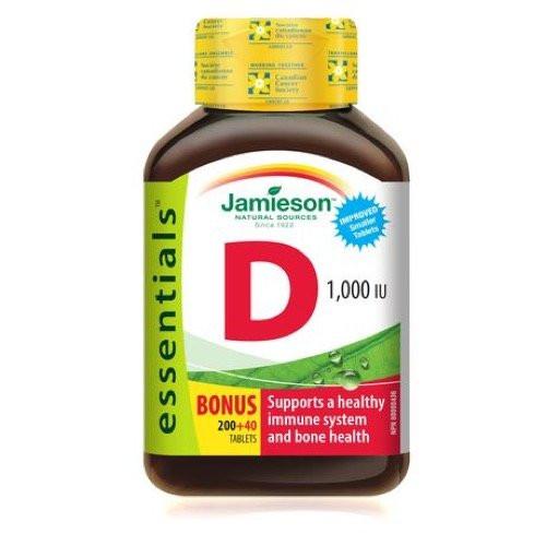 Jamieson Vitamin D Bonus 40 tablets immune system bone health