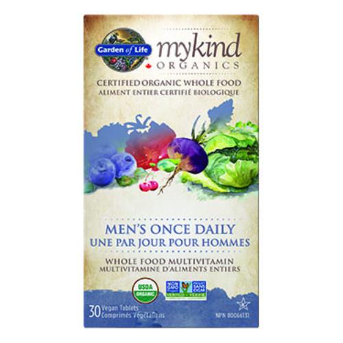 Garden of Life MyKind Organics Men's Once Daily Multivitamin Canada 30 tablets vegan
