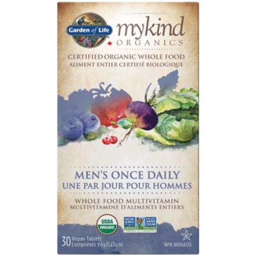 Garden of Life MyKind Organics Men's Once Daily Multivitamin 30 vegan tablets