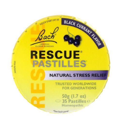 Bach Rescue Pastilles Black Currant Canada nerves relax anxiety