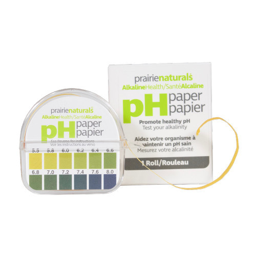 Prairie Naturals pH Paper  test your body pH levels.
