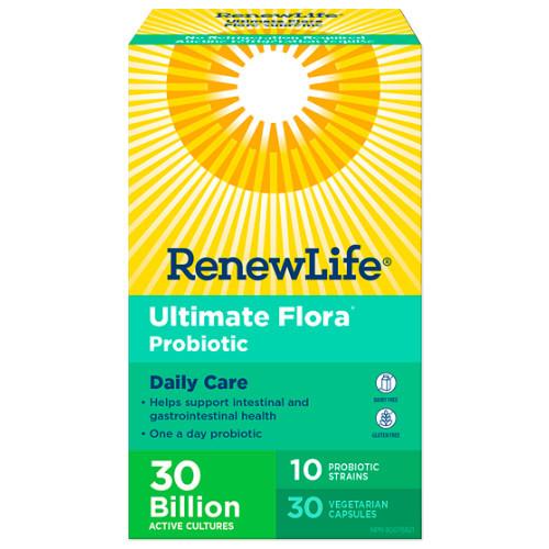 Renew Life Ultimate Flora Daily Care 30 Billion CFU Probiotic 30 vegetable capsules