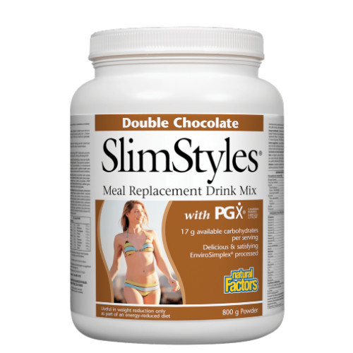 Natural Factors Double Chocolate SlimStyles weight loss PGX Canada