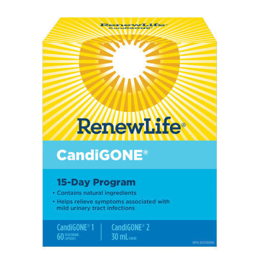Renew Life CandiGONE cleanse kit candida Canada. NEW LOOK