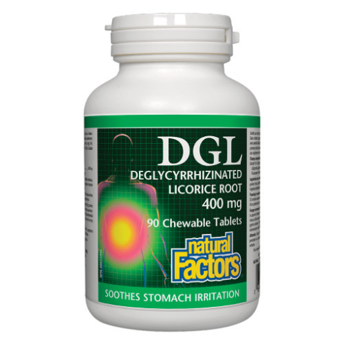 Natural Factors DGL Deglycyrrhizinated Licorice Root Front Picture - From their website.