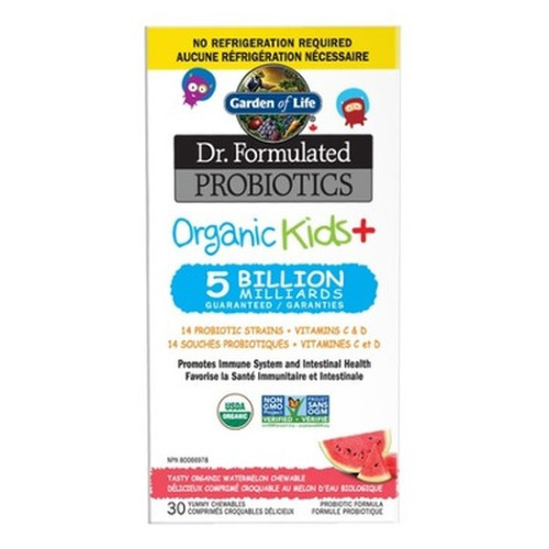 Garden of Life Dr. Formulated Probiotics Organic Kids+ 30 chewable watermelon