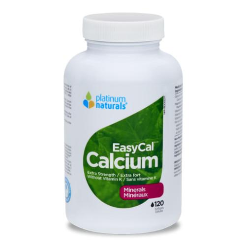 Platinum Naturals EasyCal Calcium Extra Strength 120 softgels Canada
