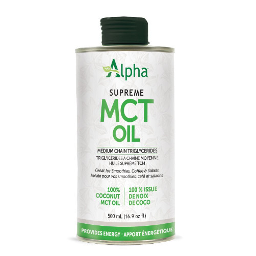 Alpha Supreme MCT Oil 500 ml Canada energy keto friendly
