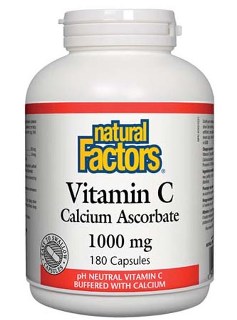 Natural Factors Vitamin C Calcium Ascorbate 1000 mg 180 capsules