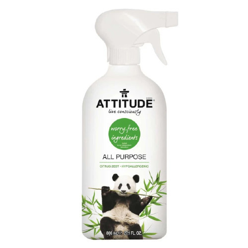 Attitude Citrus Zest All Purpose Cleaner 800 ml Canada no chemicals safe for cooking surfaces