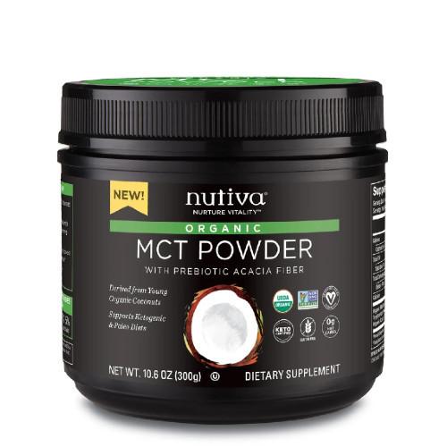Nutiva Organic MCT Powder 300 grams Canada energy zero carbs Keto and paleo friendly