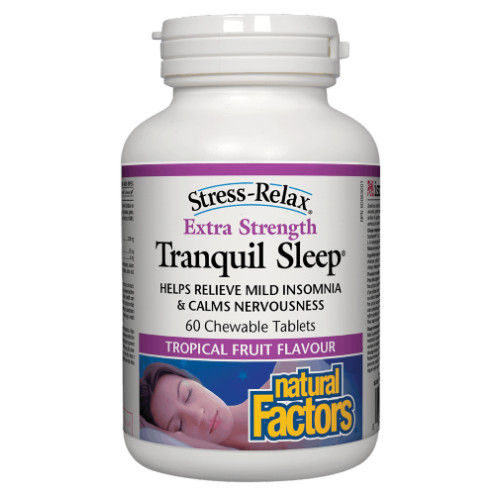 Natural Factors Stress-Relax Extra Strength Tranquil Sleep 60 chew tabs