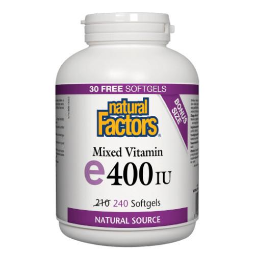 Natural Factors Mixed Vitamin e 400 IU Canada bonus size