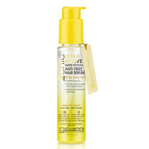 Giovanni 2Chic Pineapple & Ginger Ultra-Revive Super Potion Anti-Frizz Hair Serum 81 mL