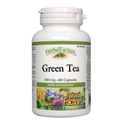 Natural Factors HerbalFactors Green Tea 300mg 60 capsules Canada