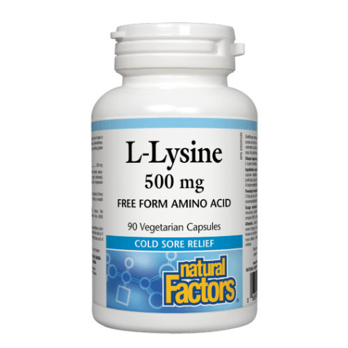 Natural Factors L-Lysine 500 mg 90 vegetarian capsules Canada immune support