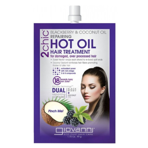 Giovanni 2Chic Blackberry & Coconut Oil Repairing Hot Oil Hair Treatment 49 grams Canada