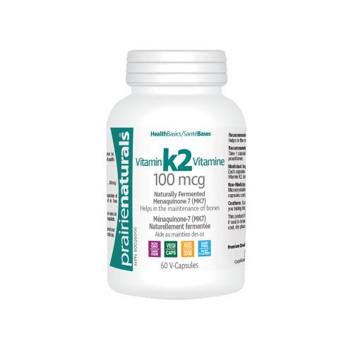 Prairie Naturals Vitamin K2 100 mcg 60 v-capsules