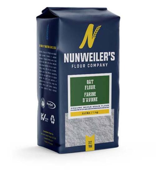 Nunweiler's Flour Company Organic Whole Grain Oat Flour 1 kg Canada