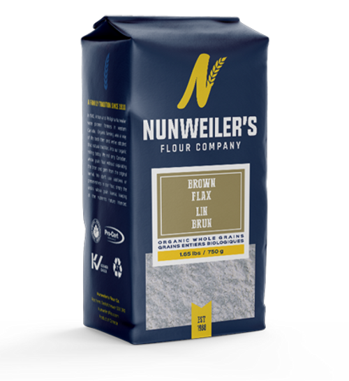 Nunweiler's Flour Company Organic Brown Flax 750 grams