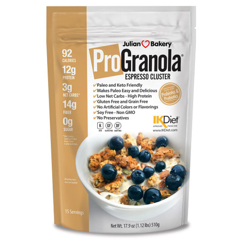 Julian Bakery ProGranola Espresso Cluster Canada cereal granola high protein fibre