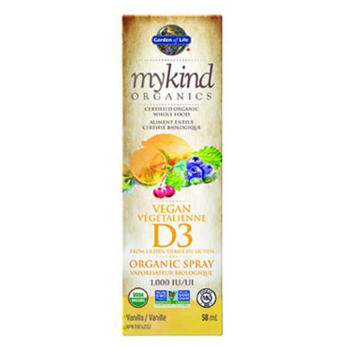 Garden of Life mykind Organics Vegan Vitamin D3 Organic Spray Vanilla Flavour 58 ml  Canada