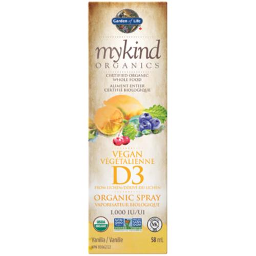 Garden of Life mykind Organics Vegan Vitamin D3 Organic Spray Vanilla Flavour 58 ml