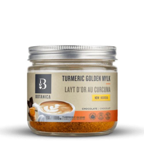 Botanica Organic Chocolate Turmeric Golden Mylk 150 grams Canada Anti-inflammatory