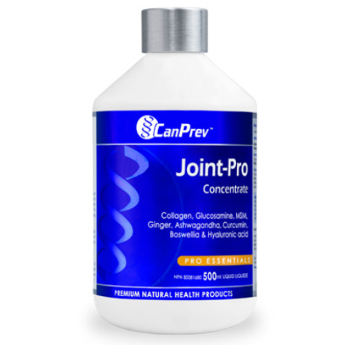 CanPrev Joint-Pro Concentrate collagen gluccosamine MSM Ashwagandha curcumin Canada
