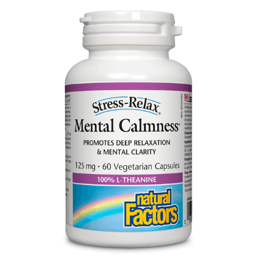 Natural Factors Mental Calmness Mental Clarity Relaxation 60 caps