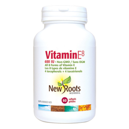 New Roots Vitamin E8 maintenance of good health Canada