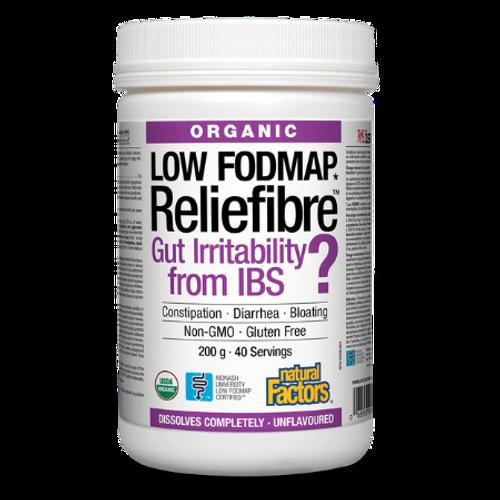 Natural Factors Low FODMAP Reliefibre Unflavoured 200 grams IBS
