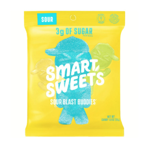Smart Sweets Sour Blast Buddies 50 grams low natural sugar candy Canada