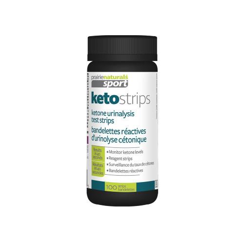 Prairie Naturals Sport Keto Strips 100 strips ketone urinalysis test Canada
