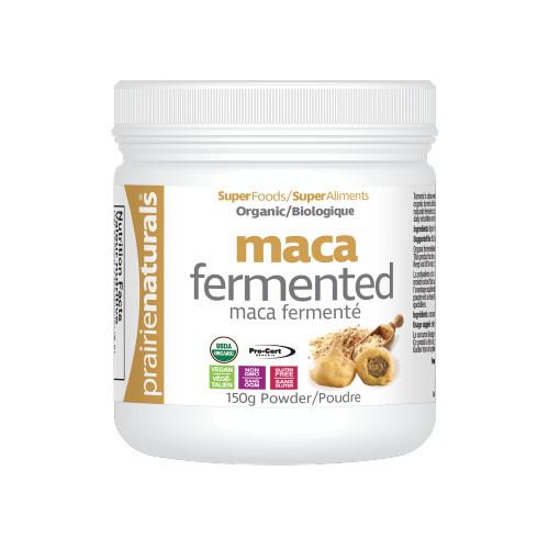 Prairie Naturals Organic Fermented Maca Powder 150 grams Canada superfood vegan