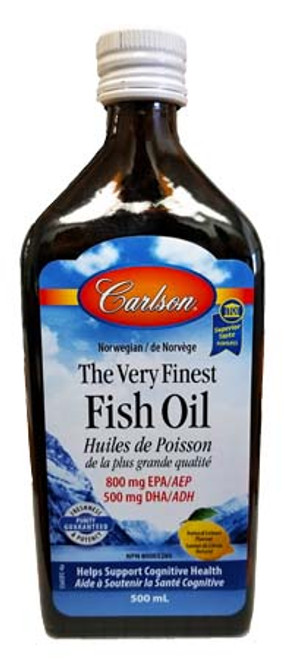Carlson Natural Lemon Flavour The Very Finest Fish Oil 500 ml