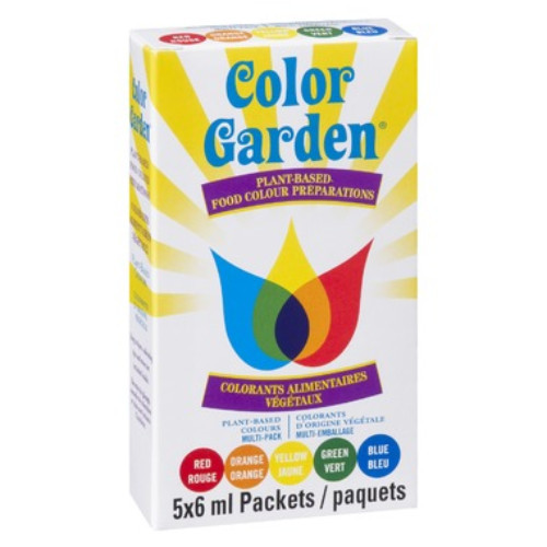 Color Garden Mixed-Pack Plant-Based Food Colour Preparations 5x6 ml packets Canada