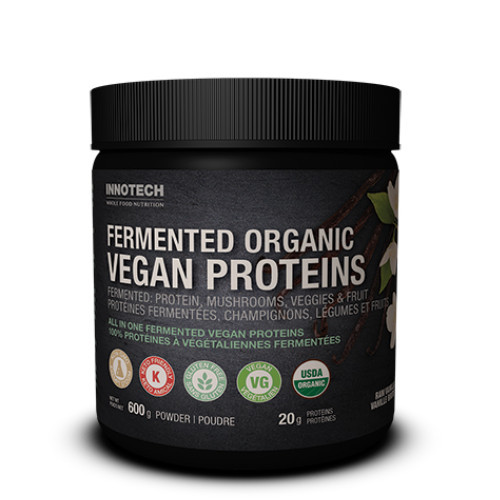 Innotech Raw Vanilla Fermented Organic Vegan Proteins 600 grams Canada