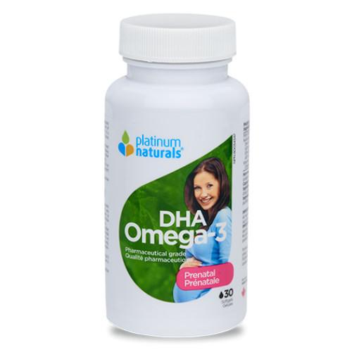 Platinum Naturals Prenatal DHA Omega-3 30 softgels