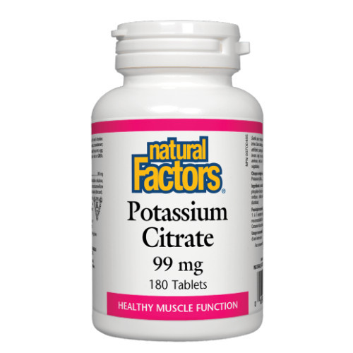 Natural Factors Potassium Citrate muscle function Canada